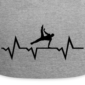 Gymnast, Gymnastics, Heartbeat - men Caps & Hats - Jersey Beanie