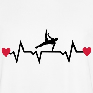 Gymnast, Gymnastics, Heartbeat & Hearts - men T-Shirts - Men's Football Jersey