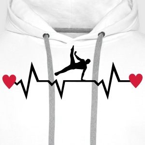 Gymnast, Gymnastics, Heartbeat & Hearts - men Hoodies & Sweatshirts - Men's Premium Hoodie