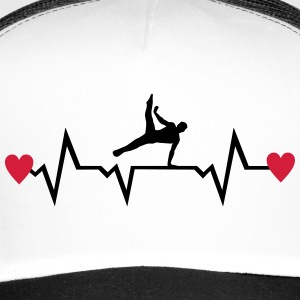 Gymnast, Gymnastics, Heartbeat & Hearts - men Caps & Hats - Trucker Cap