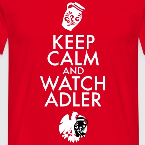 KEEP CALM AND WATCH ADLER -  - Männer T-Shirt