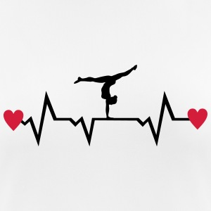 Gymnast, Gymnastics, Heartbeat & Hearts T-shirts - Dame T-shirt svedtransporterende