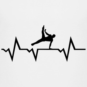 Gymnast, Gymnastics, Heartbeat - men Shirts - Teenage Premium T-Shirt