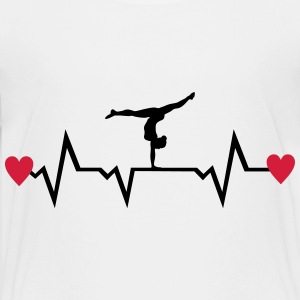 Gymnast, Gymnastics, Heartbeat & Hearts Shirts - Teenage Premium T-Shirt