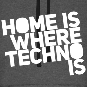 Home is where techno is Club DJ Berlin Sudaderas - Sudadera con capucha de béisbol unisex
