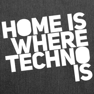 Home is where techno is Club DJ Berlin Torby i plecaki - Torba na ramię z materiału recyklingowego