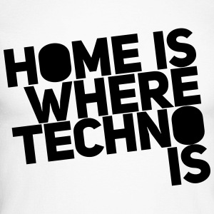 Home is where techno is Club DJ Berlin Long sleeve shirts - Men's Long Sleeve Baseball T-Shirt