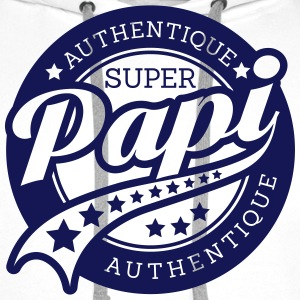 authentique super papi Sweat-shirts - Sweat-shirt à capuche Premium pour hommes
