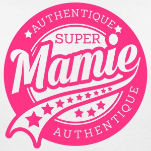 authentique super mamie_ Tee shirts - T-shirt col V Femme