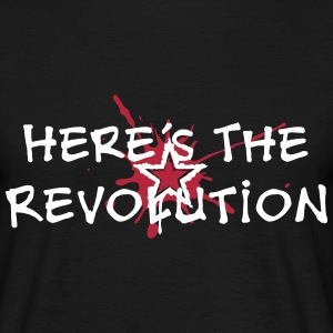 Here's the Revolution, Stern, Anarchie, Punk, Blut - Männer T-Shirt