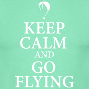 Keep calm go flying T-Shirts - Männer T-Shirt