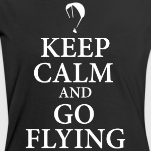 Keep calm go flying T-Shirts - Frauen Kontrast-T-Shirt