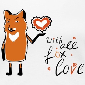 Fox Love T-Shirts - Frauen Premium T-Shirt