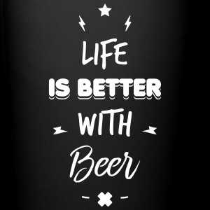 life is better with beer Kopper & tilbehør - Ensfarget kopp