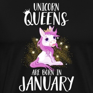 UNICORN QUEENS ARE BORN IN JANUARY T-Shirts - Men's Premium T-Shirt