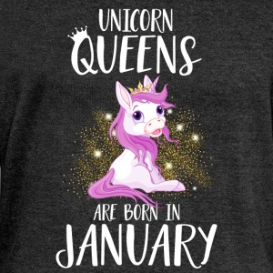 UNICORN QUEENS ARE BORN IN JANUARY Hoodies & Sweatshirts - Women's Boat Neck Long Sleeve Top
