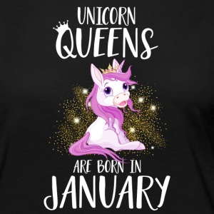 UNICORN QUEENS ARE BORN IN JANUARY Langarmshirts - Frauen Premium Langarmshirt