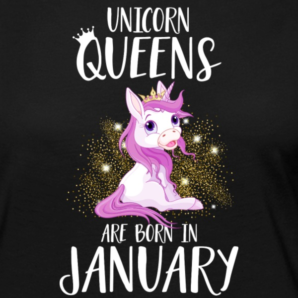 UNICORN QUEENS ARE BORN IN JANUARY Long Sleeve Shirts - Women's Premium Longsleeve Shirt