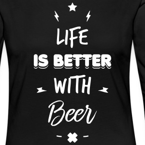 life is better with beer Manches longues - T-shirt manches longues Premium Femme