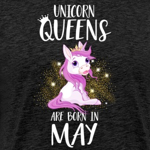 UNICORN QUEENS ARE BORN IN MAY T-Shirts - Men's Premium T-Shirt