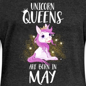 UNICORN QUEENS ARE BORN IN MAY Hoodies & Sweatshirts - Women's Boat Neck Long Sleeve Top