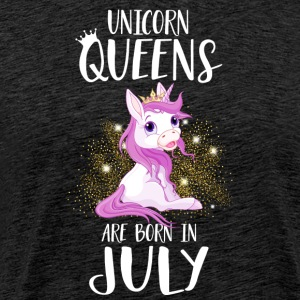 UNICORN QUEENS ARE BORN IN JULY T-Shirts - Men's Premium T-Shirt
