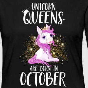 UNICORN QUEENS ARE BORN IN OCTOBER Langarmshirts - Frauen Premium Langarmshirt