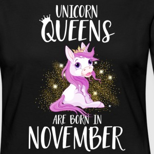UNICORN QUEENS ARE BORN IN NOVEMBER Long Sleeve Shirts - Women's Premium Longsleeve Shirt