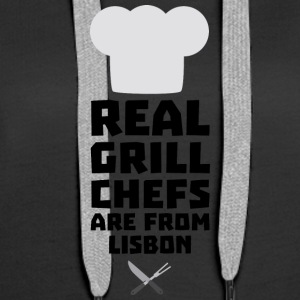Real Grill Chefs are from Lisbon S90i2 Hoodies & Sweatshirts - Women's Premium Hoodie