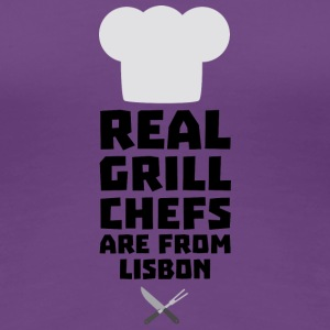 Real Grill Chefs are from Lisbon S90i2 T-Shirts - Women's Premium T-Shirt
