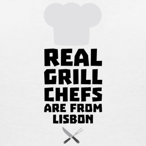 Real Grill Chefs are from Lisbon S90i2 T-Shirts - Women's V-Neck T-Shirt
