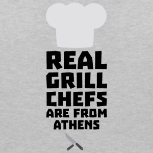 Real Grill Chefs are from Athens S3y8t T-Shirts - Women's V-Neck T-Shirt