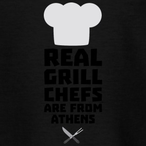 Real Grill Chefs are from Athens S3y8t Shirts - Teenage T-shirt