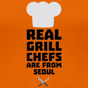 Real Grill Chefs are from Seoul S6ogi T-Shirts - Women's Premium T-Shirt