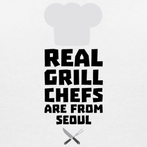 Real Grill Chefs are from Seoul S6ogi T-Shirts - Women's V-Neck T-Shirt