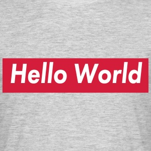 hello world T-Shirts - Männer T-Shirt