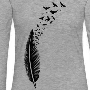 Feder und Vögel, feather with birds Langarmshirts - Frauen Premium Langarmshirt