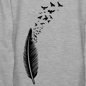 Large feather from which many birds fly Hoodies & Sweatshirts - Women's Premium Hoodie