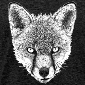Fox Face T-Shirt - Men's Premium - Men's Premium T-Shirt