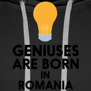 Geniuses are born in ROMANIA S1tpq Hoodies & Sweatshirts - Men's Premium Hoodie