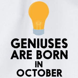 Geniuses are born in OCTOBER S2isj Bags & Backpacks - Drawstring Bag