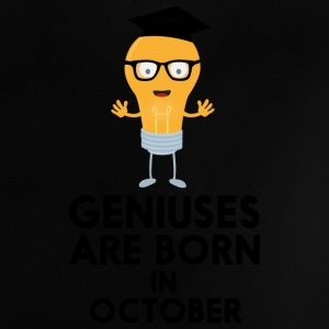 Geniuses are born in OCTOBER S8kn3 Baby Shirts  - Baby T-Shirt
