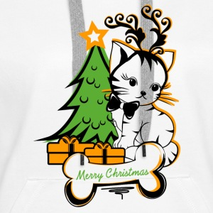 Merry Christmas Cat Pullover & Hoodies - Frauen Premium Hoodie