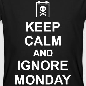 keep calm and ignore monday Montag Arbeit Job T-shirts - Mannen Bio-T-shirt