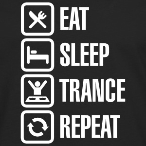 Eat Sleep Trance Repeat Skjorter med lange armer - Premium langermet T-skjorte for menn