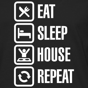 Eat Sleep House Repeat Manga larga - Camiseta de manga larga premium hombre