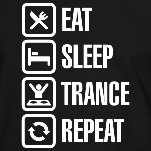 Eat Sleep Trance Repeat T-skjorter - Kontrast-T-skjorte for menn