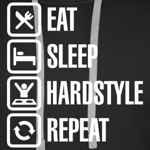 Eat Sleep hardstyle Repeat Tröjor - Premiumluvtröja herr