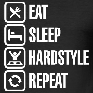 Eat Sleep hardstyle Repeat T-shirts - Herre Slim Fit T-Shirt