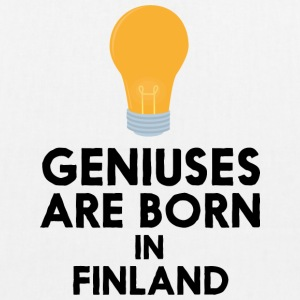Geniuses are born in FINLAND S1c83 Bags & Backpacks - EarthPositive Tote Bag